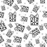 Fondo inconsútil de la Navidad. stock de ilustración