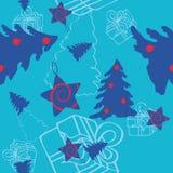 Fondo inconsútil de la Navidad Imágenes de archivo libres de regalías
