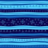 Fondo inconsútil de la Navidad azul Fotografía de archivo libre de regalías
