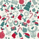 Fondo inconsútil de la Navidad Colores retros Vector Fotografía de archivo libre de regalías