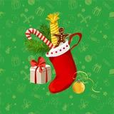 Fondo inconsútil de la Navidad con los regalos Imagen de archivo libre de regalías