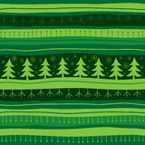 Fondo inconsútil de la Navidad verde Imágenes de archivo libres de regalías