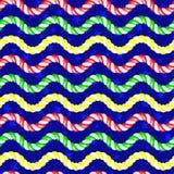 Fondo inconsútil de la onda del caramelo del vector Foto de archivo