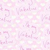 Fondo inconsútil de la tarjeta del día de San Valentín Imagen de archivo libre de regalías