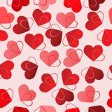 Fondo inconsútil de la tarjeta del día de San Valentín Foto de archivo libre de regalías