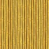 Fondo inconsútil de la textura de la pared de bambú de la vendimia Fotos de archivo