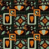 Fondo inconsútil de la textura del estampado de flores del remiendo Imagenes de archivo