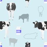 Fondo inconsútil de la vaca Foto de archivo