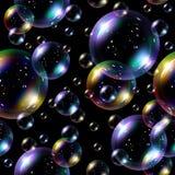 Fondo inconsútil de las burbujas de jabón. Foto de archivo libre de regalías