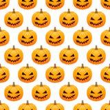 Fondo inconsútil de las calabazas de Halloween Fotografía de archivo libre de regalías