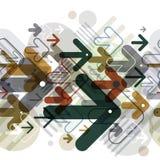 Fondo inconsútil de las flechas móviles, modelo inconsútil del estilo del techno libre illustration
