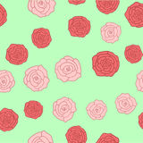 Fondo inconsútil de las imágenes de las rosas Imagenes de archivo