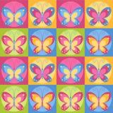 Fondo inconsútil de las mariposas Imagen de archivo libre de regalías