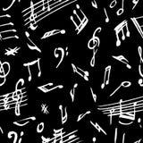 Fondo inconsútil de las notas musicales Foto de archivo