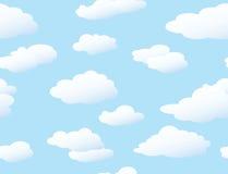 Fondo inconsútil de las nubes Fotografía de archivo
