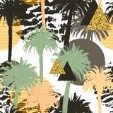 Fondo inconsútil de las palmeras tropicales Imagen de archivo libre de regalías