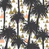 Fondo inconsútil de las palmeras tropicales Foto de archivo