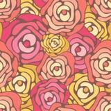 Fondo inconsútil de las rosas Foto de archivo