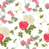 Fondo inconsútil de las rosas Imagen de archivo