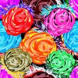 Fondo inconsútil de las rosas hermosas stock de ilustración