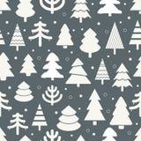 Fondo inconsútil de los árboles de navidad abstractos Fotografía de archivo