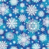 Fondo inconsútil de los copos de nieve Fotos de archivo libres de regalías