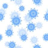 Fondo inconsútil de los copos de nieve del modelo endless ilustración del vector