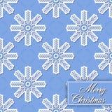 Fondo inconsútil de los copos de nieve para feliz Chri Foto de archivo libre de regalías