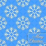 Fondo inconsútil de los copos de nieve para feliz Chri Imagen de archivo libre de regalías