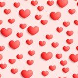 Fondo inconsútil de los corazones Imagen de archivo libre de regalías