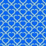 Fondo inconsútil de los corazones del agua azul stock de ilustración