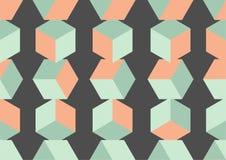 Fondo inconsútil de los cubos que cae Podía ser utilizado como diseño del embalaje o de la cubierta Fotografía de archivo libre de regalías