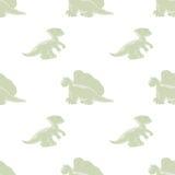 Fondo inconsútil de los dinosaurios Foto de archivo libre de regalías