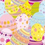 Fondo inconsútil de los huevos de Pascua Foto de archivo libre de regalías