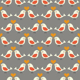Fondo inconsútil de los pájaros que se besa Imágenes de archivo libres de regalías