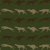 Fondo inconsútil de los perros de caza stock de ilustración