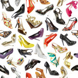 Fondo inconsútil de los zapatos Fotos de archivo libres de regalías