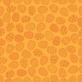 Fondo inconsútil de Pascua con los huevos Ornamento del huevo de la tarjeta de regalo, modelo Días de fiesta de la estación de pr stock de ilustración