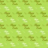 Fondo inconsútil de Pascua del verde feliz de la letra Fotografía de archivo