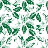 Fondo inconsútil de restauración del vector de hojas verdes imagen de archivo