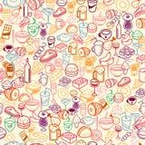 Fondo inconsútil del alimento Fotos de archivo