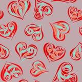 Fondo inconsútil del amor Foto de archivo