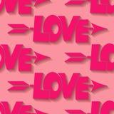Fondo inconsútil del amor Fotos de archivo
