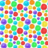 Fondo inconsútil del círculo del arco iris Textura artística de la acuarela libre illustration