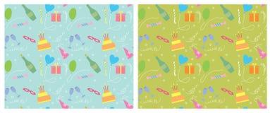 Fondo inconsútil del color del día de fiesta pattern.vector Imagen de archivo libre de regalías