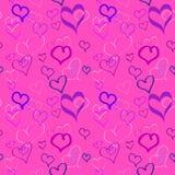 Fondo inconsútil del día de tarjeta del día de San Valentín Foto de archivo libre de regalías