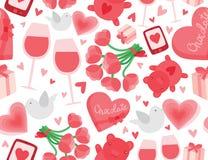 Fondo inconsútil del día de tarjeta del día de San Valentín Imagenes de archivo