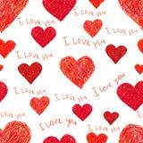 Fondo inconsútil del día de tarjetas del día de San Valentín fotos de archivo libres de regalías