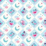 Fondo inconsútil del dormitorio de los pájaros stock de ilustración