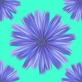 Fondo inconsútil del estampado de flores de la turquesa Fotos de archivo